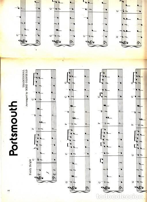 Partituras musicales: MIKE OLDFIELD - PORTSMOUTH - PARTITURA EDITADA EN INGLATERRA POR VIRGIN # - Foto 2 - 162337574