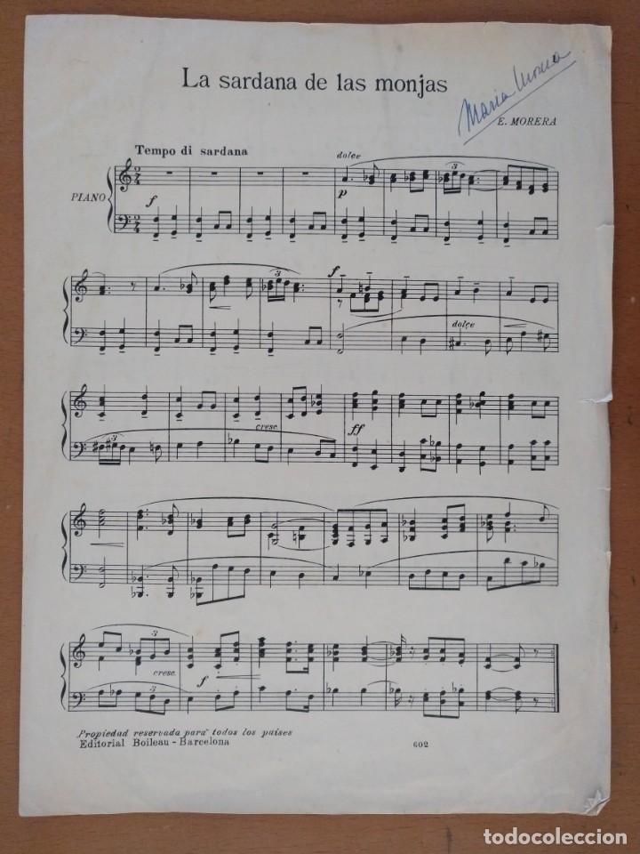 PARTITURA LA SARDANA DE LA MONJAS MAESTRO E. MORERA (Música - Partituras Musicales Antiguas)