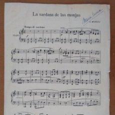 Partituras musicales: PARTITURA LA SARDANA DE LA MONJAS MAESTRO E. MORERA. Lote 162700062