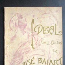 Partituras musicales: ANTIGUA PARTITURA MÚSICA. IDEAL. VALS BOSTON. JOSÉ BALART. . Lote 162773474