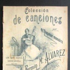Partituras musicales: ANTIGUA PARTITURA MÚSICA. EDICIÓN DOTESIO. EDICIÓN DOTESIO. FERMIN M. ALVAREZ. LOS OJOS NEGROS. . Lote 162773686