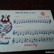 Partituras musicales: ESTUDIOS REIG PEQUEÑA PARTITURA PRIMER AÑO INFANTIL DE PIANO 7 X 10 CM. Lote 163712026