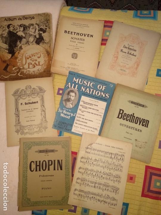 LOTE PARTITURAS (Música - Partituras Musicales Antiguas)