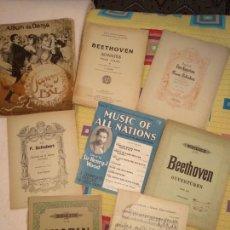 Partituras musicales: LOTE PARTITURAS. Lote 160949510