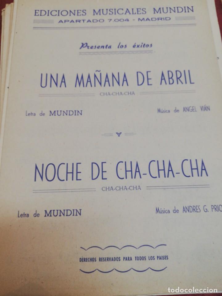 UNA MAÑANA DE ABRIL/ NOCHE DE CHA-CHA-CHA (Música - Partituras Musicales Antiguas)