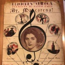 Partituras musicales: PARTITURA JUANITA REINA AY MACARENA.EDICIONES QUIROGA. Lote 165960170
