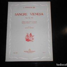 Partituras musicales: SANGRE VIENESA J. STRAUSS -ARREGLO PARA CANTO Y PIANO. Lote 166087826