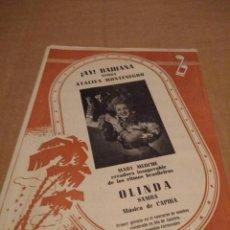 Partituras musicales: CANCIONERO : MARY MERCHE : AY BAHIANA + OLINDA ( SAMBAS ATALIVA MONTNEGRO + CAPIBA . Lote 166180826