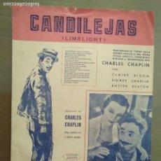 Partituras musicales: PARTITURA CANDILEJAS- CHARLES CHAPLIN. Lote 166986020