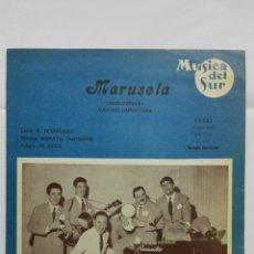 Partituras musicales - ANTIGUA PARTITURA, MARUSELA - CANCION NAPOLITANA, MUSICA DEL SUR, DISCOS PATHE - 167715840