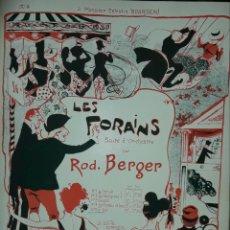 Partituras musicales: LES FORAINS PARTITURA ANTIGUA DE COLECCION. Lote 168861529