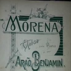 Partituras musicales: PARTITURA DE COLECCION ANTIGUA MORENA. Lote 168874612