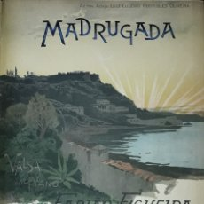 Partituras musicales: PARTITURA DE COLECCION ANTIGUA MADRUGADA. Lote 168874636