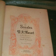 Partituras musicales: MOZART - SONATEN, ARREGLOS LOUIS KÖHLER Y ALDOF RUTHARD - C.F.PETERS LEIPZIG 8162 - CIRCA 1900. Lote 168935484