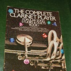 Partituras musicales: THE COMPLETE CLARINET PLAYER. POPULAR SONG STUDIES & DUETS BOOK 1, PAUL HARVEY 1987. Lote 169994516