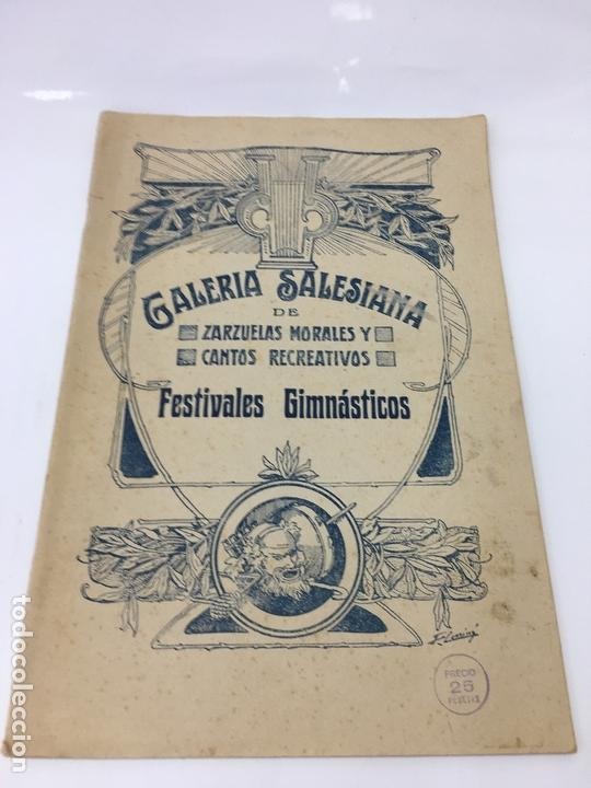 PARTITURAS, GALERIA SALESIANA DE ZARZUELAS MORALES Y CANTOS RECREATIVOS, FESTIVALES GIMNASTICOS (Música - Partituras Musicales Antiguas)