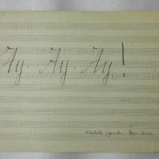 Partituras musicales: ANTIGUA PARTITURA, AY, AY, AY, VIDALITA POPULAR ARGENTINA, 4 PAGINAS. Lote 170354636