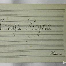 Partituras musicales: ANTIGUA PARTITURA, VENGA ALEGRIA, FOX TROT COMICO, POR NOVACASA, 4 PAGINAS. Lote 170354704
