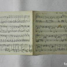 Partituras musicales: ANTIGUA PARTITURA, EL CABO PRIMERO - CANCION ESPAÑOLA, POR M. F. CABALLERO, 4 PAGINAS. Lote 170355048