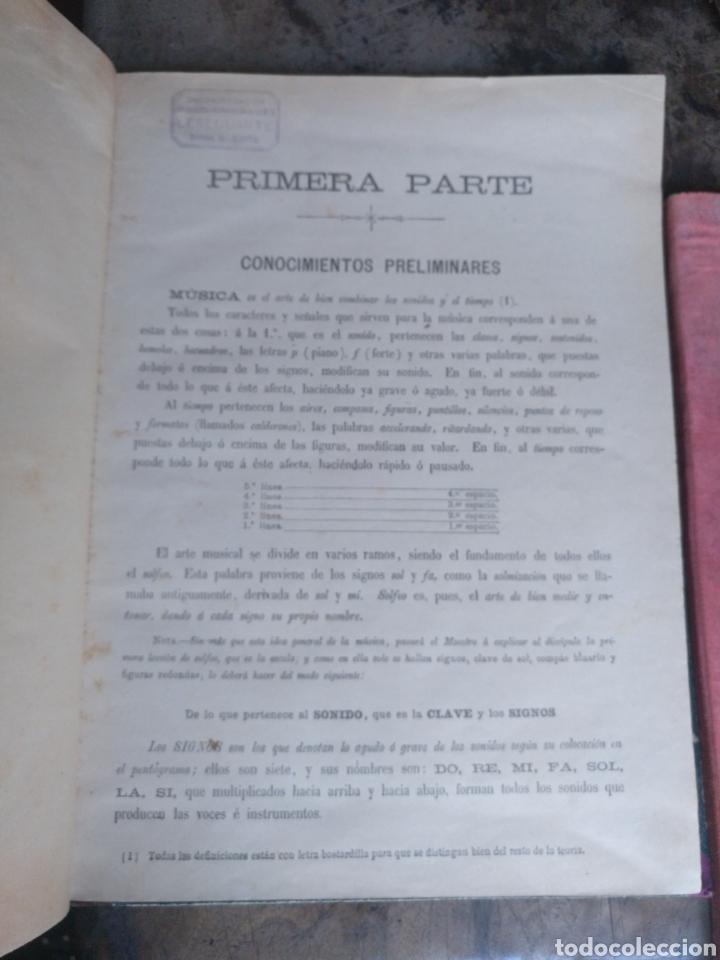Partituras musicales: Lote 3 libros música solfeo piano antiguos - Foto 3 - 170920450