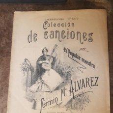 Partituras musicales: PARTITURA COLECCIÓN DE CANCIONES FERMÍN MARÍA ÁLVAREZ. CASA DOTESIO. Lote 170934525