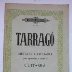 Partitions Musicales: EDICION IBERICA Nº 203. TARRAGO. METODO GRADUADO PARA APRENDER A TOCAR LA GUITARRA. BOILEAU. DEBIBL. Lote 171010772