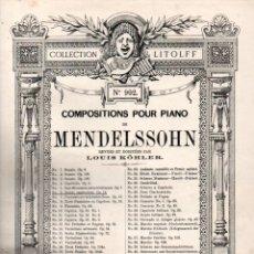 Partituras musicales: MENDELSSOHN : RONDO CAPRICCIOSO (LITOLFF). Lote 171220904