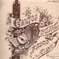Partituras musicales: CANTOS POPULARES 2ª SERIE . 12 FADOS PARA PIANO (FONSECA, PORTO). Lote 171226160
