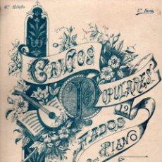 Partituras musicales: CANTOS POPULARES 1ª SERIE . 12 FADOS PARA PIANO (FONSECA, PORTO). Lote 171226249