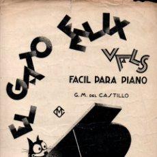 Partituras musicales: DEL CASTILLO : EL GATO FÉLIX - VALS FÁCIL PARA PIANO (MARIN, ZARAGOZA). Lote 171227169