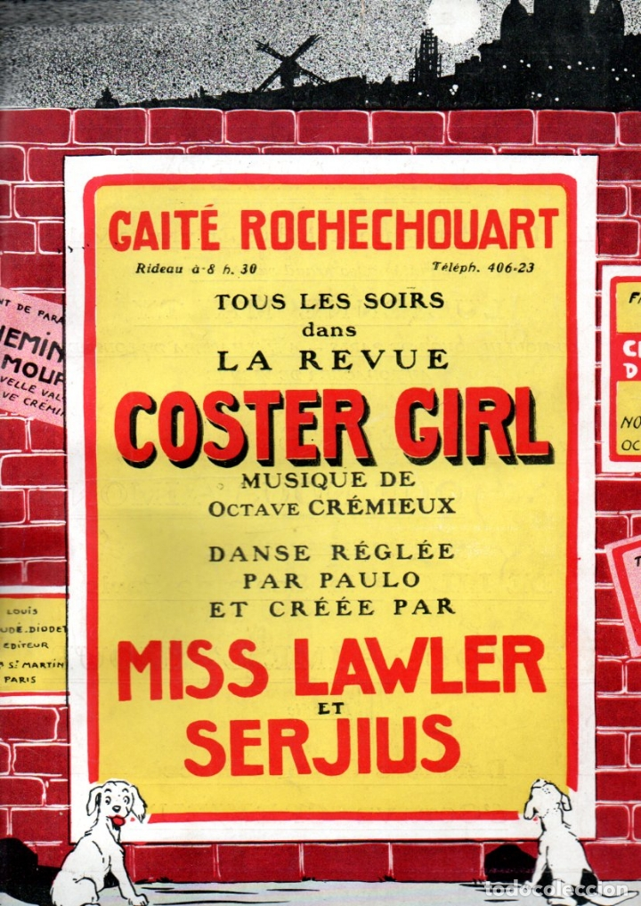 CREMIEUX : COSTER GIRL (DIGOUDÉ, PARIS) (Música - Partituras Musicales Antiguas)