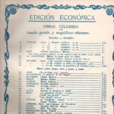 Partituras musicales: ADAM : SINFONÍA DE LA ÓPERA SI YO FUESE REY. Lote 171230105