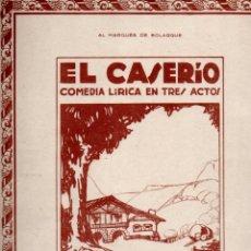 Partituras musicales: GURIDI . EL CASERÍO - 5 PARTITURAS (UNIÓN MUSICAL). Lote 171233047
