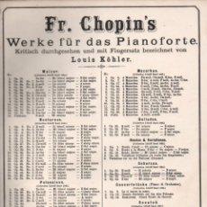 Partituras musicales: CHOPIN . DEUXIEME SCHERZO (LITOLFF). Lote 171233845