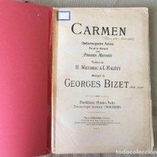 Partituras musicales: LIBRO MÚSICA: CARMEN DE GEORGES BIZET. Lote 171651122