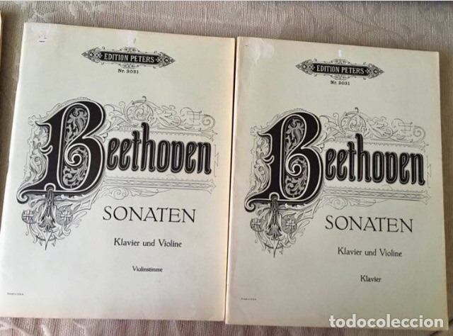 BEETHOVEN SONATEN KLAVIER UND VIOLINE (Música - Partituras Musicales Antiguas)