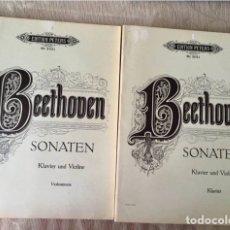 Partituras musicales: BEETHOVEN SONATEN KLAVIER UND VIOLINE. Lote 171704129