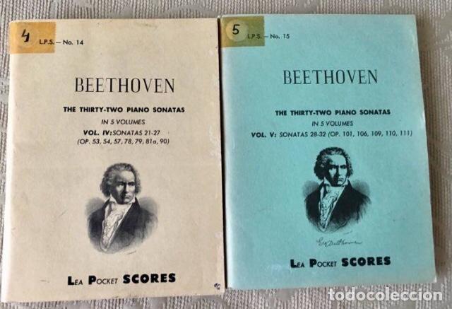 BEETHOVEN THE TRIRTHY-TWO PIANOS SONATAS (Música - Partituras Musicales Antiguas)
