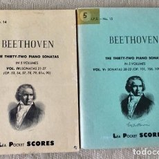 Partituras musicales: BEETHOVEN THE TRIRTHY-TWO PIANOS SONATAS. Lote 171705843