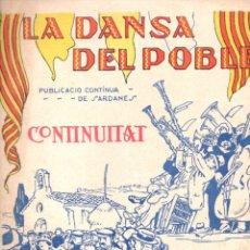 Partituras musicales: VICENS BOU : LA DANSA DEL POBLE - CONTINUITAT (IBERIA MUSICAL) SARDANA - PORTADA DE JUNCEDA. Lote 171785508
