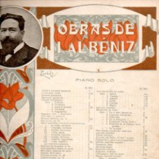 Partituras musicales: ALBENIZ : SUITE ESPAGNOLE - 4 PARTITURAS (UNIÓN MUSICAL). Lote 171792268