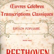 Partituras musicales: BEETHOVEN - 2 PARTITURAS (SENART, PARIS). Lote 171792534
