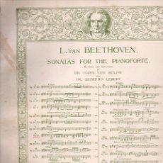 Partituras musicales: BEETHOVEN - SONATA PATÉTICA (SCHIRMER, NEW YORK). Lote 171792735
