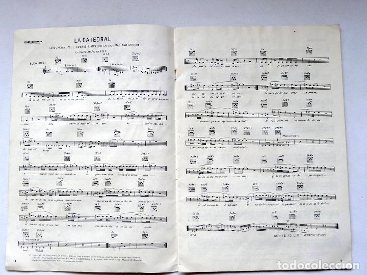 Partituras musicales: LIBRO DE PARTITURAS DEL GRUPO TOPO - 1979 - PRIMER DISCO DE TOPO - DISCORAMA - RARO Y ESCASO - Foto 2 - 171798522