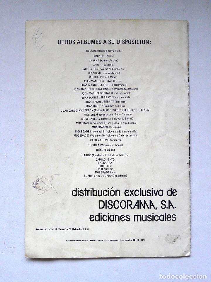 Partituras musicales: LIBRO DE PARTITURAS DEL GRUPO TOPO - 1979 - PRIMER DISCO DE TOPO - DISCORAMA - RARO Y ESCASO - Foto 5 - 171798522