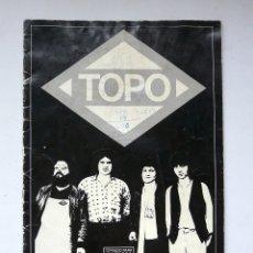 Partituras musicales: LIBRO DE PARTITURAS DEL GRUPO TOPO - 1979 - PRIMER DISCO DE TOPO - DISCORAMA - RARO Y ESCASO. Lote 171798522