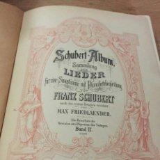 Partituras musicales: PARTITURA LIEDER SCHUBERT. Lote 172374128