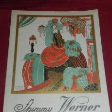 Partituras musicales: (M) PARTITURA SHIMMY WERNER C. WORSLEY - ILUSTRADO POR EMILIO FERRER 1922, BUEN ESTADO. Lote 173195224