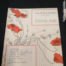 Partituras musicales: VICENS BOU PARTITURA SARDANAS PARA PIANO, FIRMADA. CLARO DE POSTA. Lote 173415470