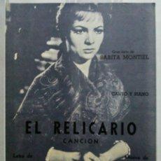 Partituras musicales: PARTITURA EL RELICARIO SARITA MONTIEL RICORDI ARGENTINA. Lote 173670405